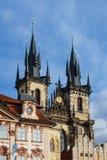 Historisk byggnad i Prag, Tjeckien Royaltyfria Foton