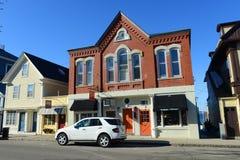 Historisk byggnad i Rockport, Massachusetts fotografering för bildbyråer