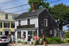 Historisk byggnad i Rockport, Massachusetts Royaltyfria Foton