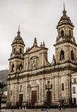 Historisk byggnad i i stadens centrum Bogota royaltyfri foto