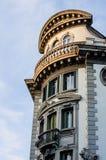 Historisk byggnad i Udine, Italien Arkivfoton