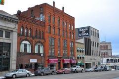 Historisk byggnad i Utica, New York stat, USA Arkivfoton