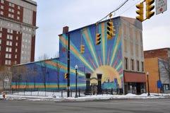 Historisk byggnad i Utica, New York stat, USA Royaltyfri Foto