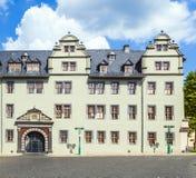 Historisk byggnad i Weimar, Tyskland Arkivbilder
