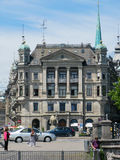 Historisk byggnad i Zurich, Schweiz royaltyfri fotografi