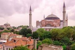 Historisk byggnad-moské Ayasofya Fotografering för Bildbyråer