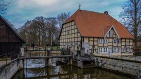 Historisk byggnad nära Schloss Rheda - Rheda-Wiedenbrà ¼ ck, Kreis Gà ¼tersloh, Nordrheinwestfalen, Deutschland/Tyskland Arkivbilder