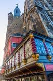 Historisk byggnad och Granus torn i Aachen Royaltyfri Bild