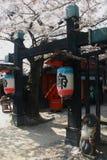 Historisk byggnad på den Toei Kyoto studion parkerar Arkivfoto