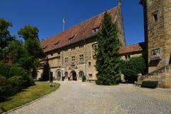 Historisk byggnad på slotten för VESTE COBURG i Coburg, Tyskland arkivfoton