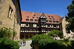 Historisk byggnad på slotten för VESTE COBURG i Coburg, Tyskland Arkivbilder
