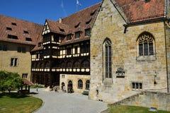 Historisk byggnad på slotten för VESTE COBURG i Coburg, Tyskland royaltyfri bild