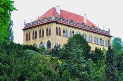 Historisk byggnad Prague gammal stad, Tjeckien arkivfoto