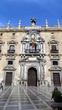 HISTORISK Byggnad-stad korridor-Granada Royaltyfri Fotografi