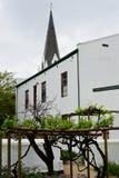 Historisk byggnad Stellenbosch, Sydafrika royaltyfria bilder
