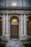 Historisk byggnad vände in i museum fotografering för bildbyråer
