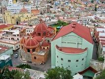 historisk byggnadsguanajuato Arkivbilder