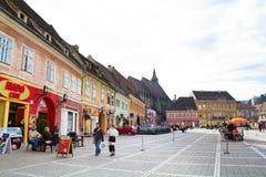 historisk center stad för brasov Arkivfoton