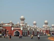 Historisk Charbagh järnvägsstation Lucknow arkivbilder