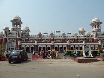 Historisk Charbagh järnvägsstation Lucknow arkivfoto