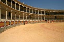 historisk cirkel för bullfighting arkivfoton