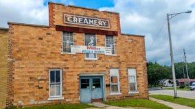 Historisk Creamery i Boscobel, Wisconsin arkivfoton