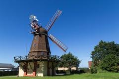 Historisk dansk väderkvarn Royaltyfri Fotografi