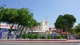 Historisk del av den gamla malaysiska staden Royaltyfria Foton