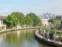 Historisk del av den gamla malaysiska staden Royaltyfri Fotografi