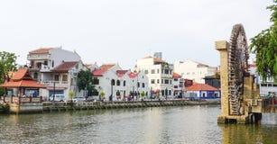 Historisk del av den gamla malaysiska staden Royaltyfria Bilder
