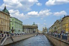 Historisk del av St Petersburg, Ryssland Royaltyfria Bilder