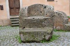 Historisk det fria för stenstol inget Royaltyfria Foton