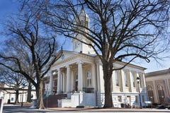 Historisk domstolsbyggnad i den gamla staden, Warrenton, Virginia Fotografering för Bildbyråer