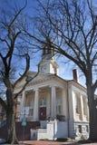 Historisk domstolsbyggnad i den gamla staden, Warrenton Virginia Arkivbilder