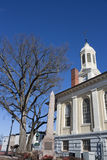 Historisk domstolsbyggnad i den gamla staden, Warrenton Virginia Arkivfoto
