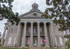 Historisk domstolsbyggnad på Vicksburg Mississippi Arkivbild
