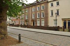 Historisk drottningfyrkant, Bristol, England, UK Arkivbilder