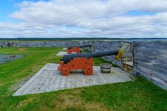 Historisk fästning av Louisbourg royaltyfria bilder