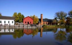 historisk by för greenfield Royaltyfri Bild