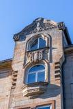 Historisk fasad i staden av Bayreuth - stolpe - telefon - telegraf royaltyfria foton