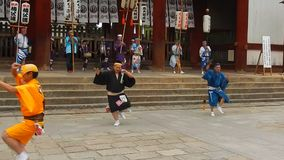 Historisk festival, Nara, Japan arkivfilmer