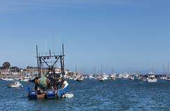 Historisk Fishermans hamnplats på den Monterey hamnen och marina Royaltyfria Foton