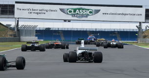 Historisk formel 1, Silverstone klassiker Royaltyfria Foton