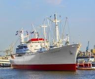 Historisk fraktbåt San Diego Royaltyfri Bild