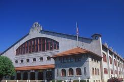 Historisk Ft Värda Texas Coliseum som byggs i 1908 arkivbild