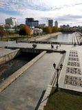 Historisk fyrkant, Ekaterinburg, Ryssland royaltyfri fotografi
