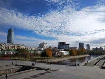 Historisk fyrkant, Ekaterinburg, Ryssland fotografering för bildbyråer