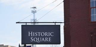 Historisk fyrkant i centrum royaltyfria foton