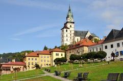 Historisk fyrkant i den bryta staden av Kremnica Royaltyfri Fotografi