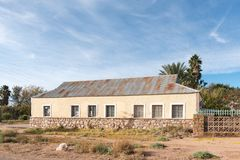 Historisk gammal byggnad i Keimoes Royaltyfria Foton